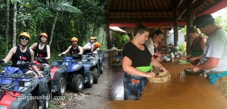 quad bike cooking class tour package gorgeous bali